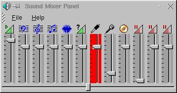 The KDE-mixer is set correctly