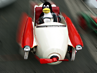 [racing Tux in Oldtimer]