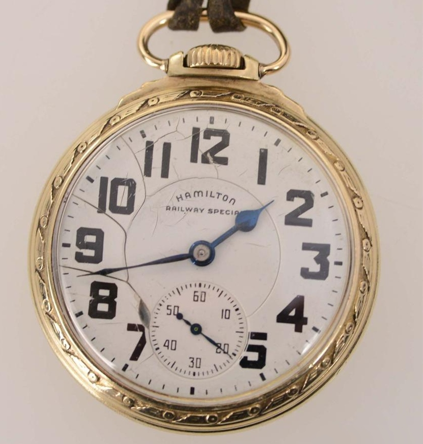 Hamilton 992b Railroad Pocket Watch Hamilton Railway Special