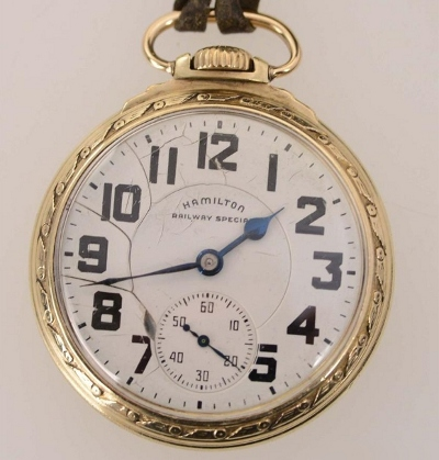 hamilton pocket watch value by serial number